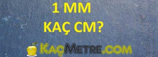 1 mm kac cm